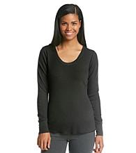 HUE® Thermal Knit Top - Black