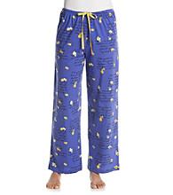 HUE® Blue Iris Knit Pants - Flower Letters