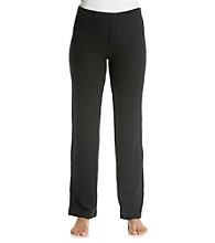 HUE® Slimfit Thermal Knit Pants - Black