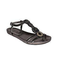 """DOLCE by Mojo Moxy® """"Milan"""" T-Strap Sandals - Pewter"""