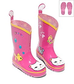 Kidorable™ Girls' Lucky Cat Rain Boots