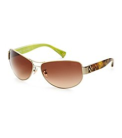 COACH GOLD/TORTOISE TAYLOR SUNGLASSES