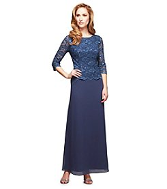Alex Evenings® Mock Dress With Lace Bodice