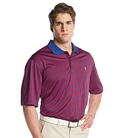Izod® Men's Big & Tall Short Sleeve Feeder Stripe Jersey Polo