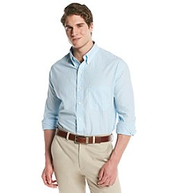 Izod® Men's Big & Tall Long Sleeve Buttondown Gingham Woven