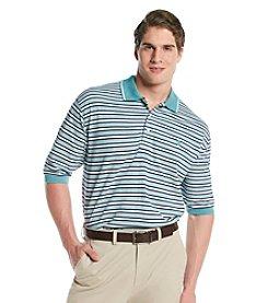 Izod® Men's Big & Tall Oxford Pique Feeder Stripe Polo
