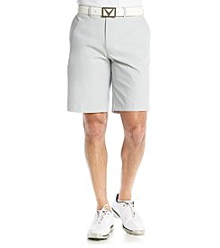Callaway® Men's High Rise Microfiber Flat-Front Tech Shorts