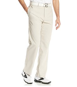 Callaway® Men's Silver Lining Microfiber Flat-Front Golf Pants