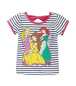 Nannette® Girls' 2T-4T Striped Princess Tee