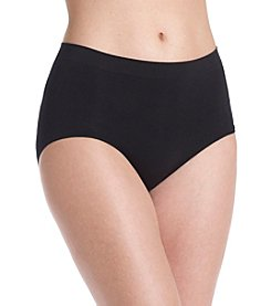 Bali® One Black Smooth U All-Over Smoothing Briefs