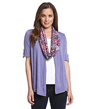 Notations Solid Cosi With Scarf Layering Look