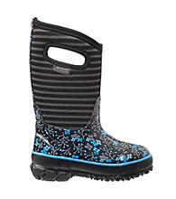 """Bogs® Girls' """"Flower Stripe"""" Waterproof Boots"""