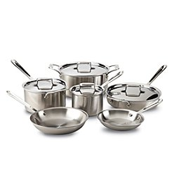 All-Clad® D5 10-pc. Brushed Stainless Steel Cookware Set