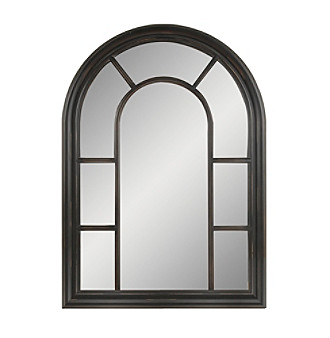 UPC 729016432703 product image for Sheffield Home Black Window Pane Mirror   006337944841