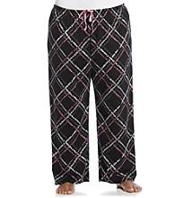 HUE® Plus Size Black/Multi Knit Pants - Scripted Path