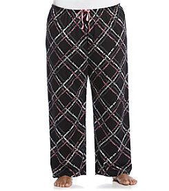 HUE® Plus Size Black/Multi Knit Pants - Scripted Path