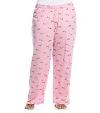 HUE® Plus Size Aurora Pink Knit Pants - Kiss the Pooch