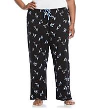 HUE® Plus Size Black/Blue Knit Pants - Simple Syrup