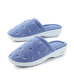 Isotoner® Signature Terry Embroidered Clog Slippers