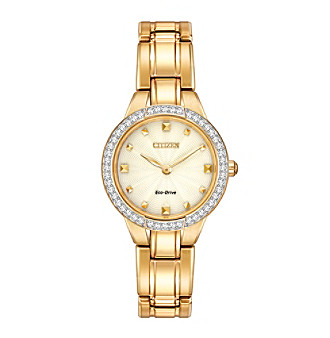 Citizen® Eco-Drive Women's Goldtone Silhouette Crystal