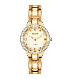 Citizen® Eco-Drive Women's Goldtone Silhouette Crystal Watch