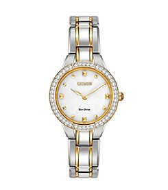 Citizen® Eco-Drive Women's Two-Tone Silhouette Crystal Watch
