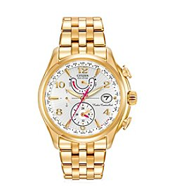 Citizen® Eco-Drive Women's Goldtone World Time A-T Watch