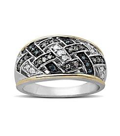 0.25 ct. t.w. Diamond Ring in Sterling Silver/14K