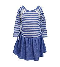 Bonnie Jean® Girls' 4-6X Cobalt Blue Striped French Terry Dress