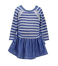 Bonnie Jean® Girls' 2T-4T Cobalt Striped French Terry Dress