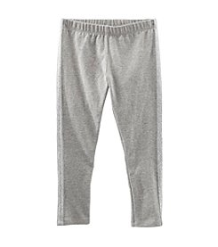 OshKosh B'Gosh® Girls' 2T-6X Grey Tuxedo Glitter Striped Leggings