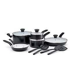 T-fal® Initiatives 14-pc. Black Ceramic Cookware Set
