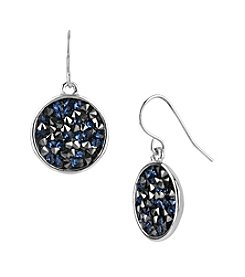 Kenneth Cole® Blue Faceted Bead Disc Drop Earrings