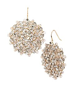 Kenneth Cole® Light Colorado Topaz Woven Faceted Bead Drop Earrings