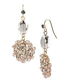 Kenneth Cole® Light Colorado Topaz Woven Faceted Bead Double Drop Earrings