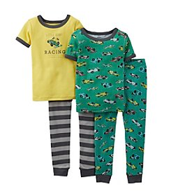 Carter's® Boys' 12M-4T Green 4-pc. Race Car Pajama Set