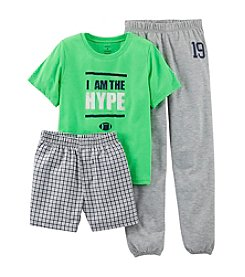Carter's® Boys' 8-12 Green 3-pc. I Am the Hype Pajama Set