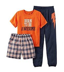 Carter's® Boys' 8-12 Orange 3-pc. Born to Be Awesome Pajama Set