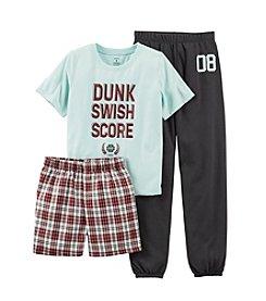 Carter's® Boys' 8-12 Blue 3-pc. Dunk Swish Score Pajama Set