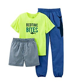 Carter's® Boys' 8-12 Yellow 3-pc. Bedtime Bites Pajama Set