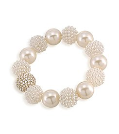Carolee® The Aria White Pearl Stretch Bracelet