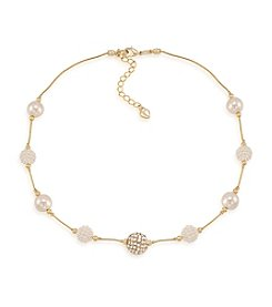 Carolee® The Leslie White Pearl Illusion Necklace