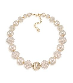 Carolee® The Clare White Bold Beaded Collar Necklace