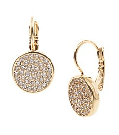 Anne Klein® Goldtone Pave Drop Earrings
