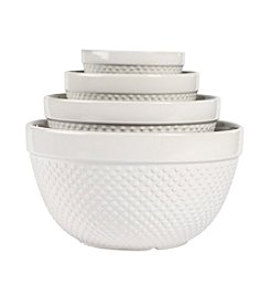 Tabletops Gallery® 4-pc. White Hobnail Mixing Bowl Set