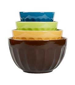 Tabletops Gallery® 4-pc. Cafe Multicolor Mixing Bowl Set