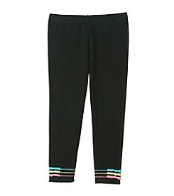 Little Miss Attitude Mix & Match Girls' 2T-6X Midnight Black Merrow Stitch Leggings
