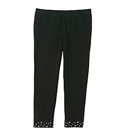 Little Miss Attitude Mix & Match Girls' 2T-6X Midnight Black Studded Hem Leggings