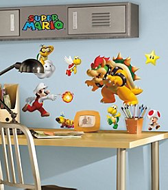 RoomMates Wall Decals Nintendo Super Mario Peel & Stick Wall Decals
