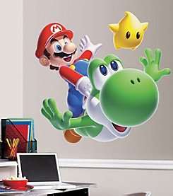 RoomMates Wall Decals Nintendo Mario Yoshi Peel & Stick Giant Wall Decal